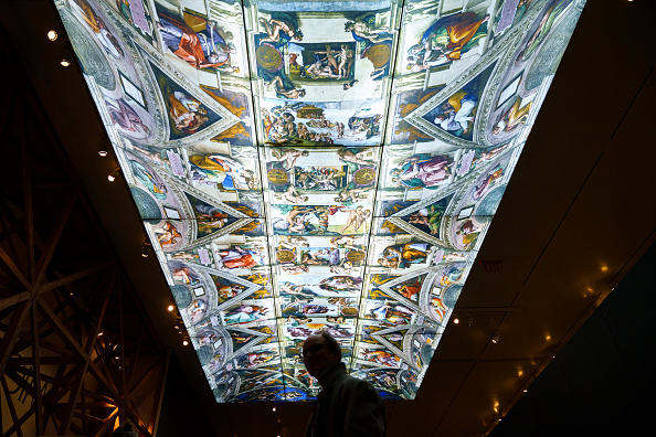 Ceiling「The Metropolitan Museum Of Art's New Michelangelo Exhibition Opens To Public」:写真・画像(7)[壁紙.com]