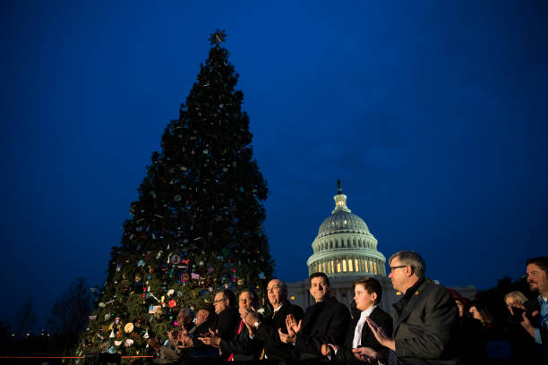 Drew Angerer「Annual U.S. Capitol Christmas Tree Lighting Ceremony Held In Washington」:写真・画像(13)[壁紙.com]