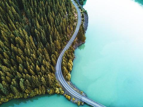 Horizontal「diablo lake aerial view」:スマホ壁紙(15)