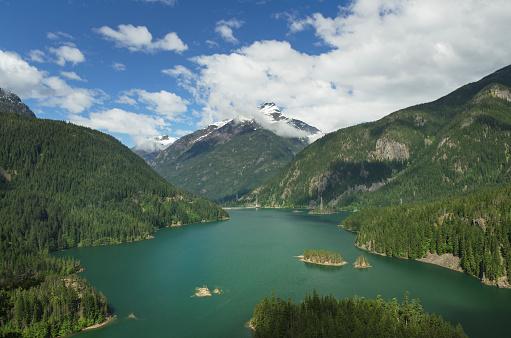 ディアブロダム「Diablo Lake, North Cascades Washington」:スマホ壁紙(7)