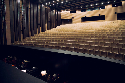 Concert Hall「Orchestra pit and theatre seats」:スマホ壁紙(4)