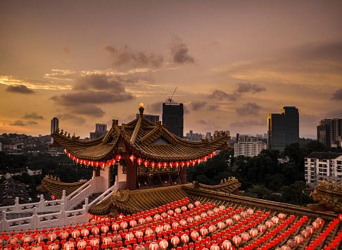 Chinese Lantern「Thean Hou temple in Kuala Lumpur Malaysia」:スマホ壁紙(18)