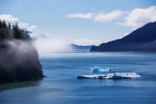 Ice floe「Tracy Arm Fjord, Juneau, Alaska, America, USA」:スマホ壁紙(19)