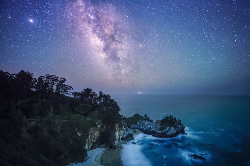 Julia Pfeiffer Burns State Park「Milky Way Over McWay Fall, Big Sur Coast」:スマホ壁紙(17)