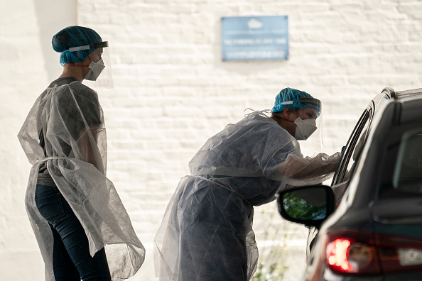 Drive Thru Medical Test「Washington DC Area Sees Highest Rate Of COVID-19 Infections In U.S.」:写真・画像(16)[壁紙.com]