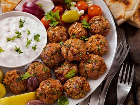 Tzatziki「100% Lamb -Greek Meatball Platter」:スマホ壁紙(5)