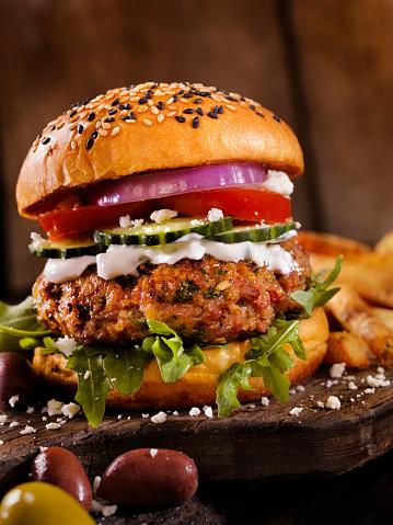 Middle Eastern Food「100% Lamb -Greek Burger」:スマホ壁紙(12)