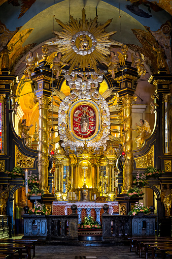 Abbey - Monastery「Baroque altar from Bernardine monastery in Kalwaria Zebrzydowska, Poland」:スマホ壁紙(19)