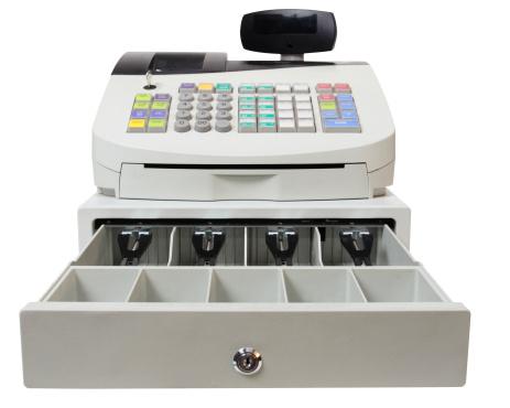 Spending Money「Cash Register on White with Clipping Path」:スマホ壁紙(13)