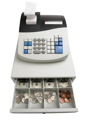 Cash Register「Cash register with money」:スマホ壁紙(8)