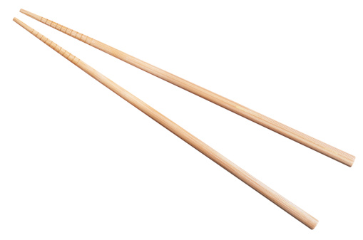 Chinese Culture「bamboo chopsticks isolated on white」:スマホ壁紙(12)