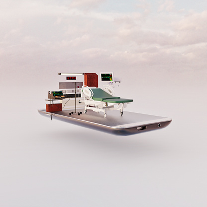 www「Mobile phone miniature worlds: hospital room on a smart phone screen」:スマホ壁紙(9)