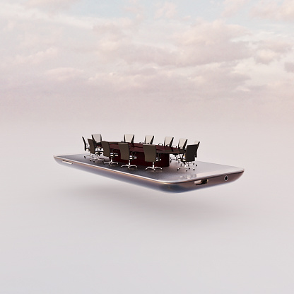 Internet of Things「Mobile phone miniature worlds: conference table on screen」:スマホ壁紙(12)