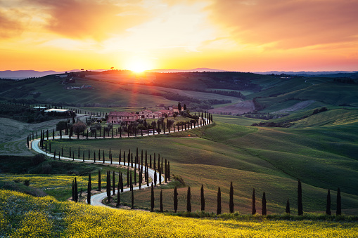 Perfection「Tuscany Landscape At Sunset」:スマホ壁紙(7)