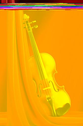 Violin「Violin on Red」:スマホ壁紙(9)