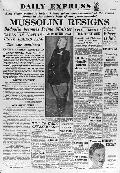 Express Newspapers「Mussolini Resigns」:写真・画像(19)[壁紙.com]