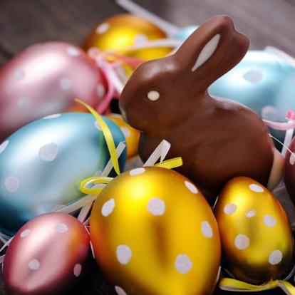 イースター「チョコレートイースター卵、ウサギ」:スマホ壁紙(2)
