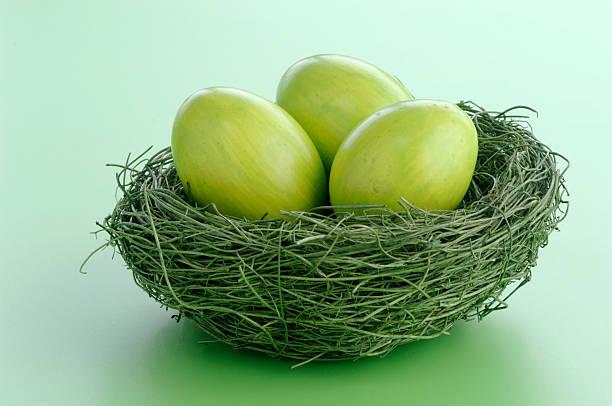 Easter eggs in nest:スマホ壁紙(壁紙.com)