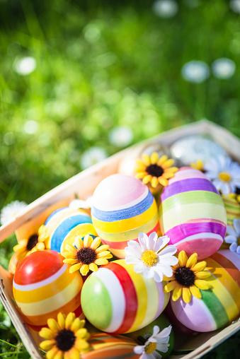 Easter「easter eggs basket on the grass」:スマホ壁紙(19)