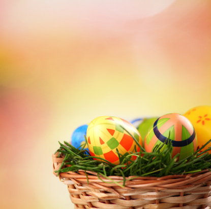 Easter Basket「Easter eggs in basket.」:スマホ壁紙(9)
