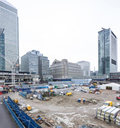 Famous Place「UK, London, Docklands, construction site at financal district」:スマホ壁紙(5)
