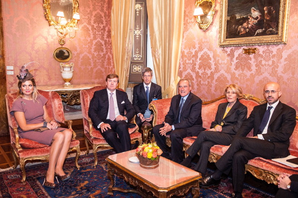 Netherlands「King Willem-Alexander and Queen Maxima of the Netherlands Meet The President of Italian Senate Pietro Grasso」:写真・画像(5)[壁紙.com]