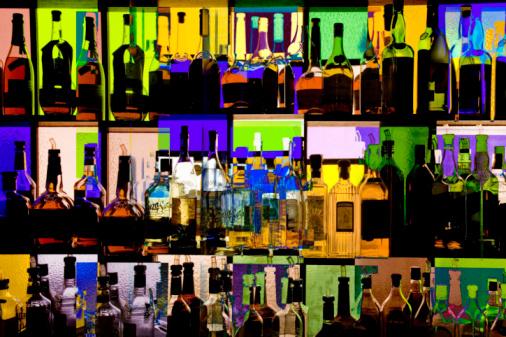Multiple Exposure「Absctract of liquor bottles in bar (multiple exposure)」:スマホ壁紙(18)