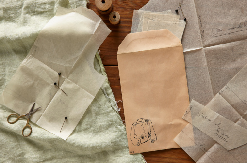Cloth pattern「Blank envelope and clothing patterns」:スマホ壁紙(12)