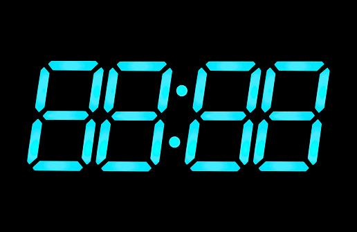 数字の8「LCD デジタル時計数」:スマホ壁紙(9)
