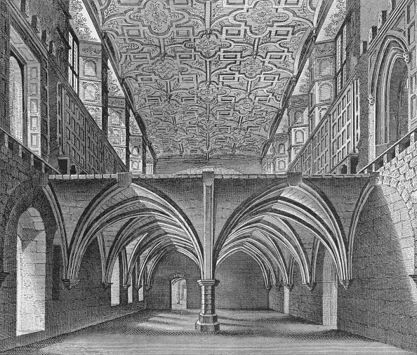 Ceiling「The crypt of the Nunnery of St Helen, Bishopsgate, City of London, c1819 (1906)」:写真・画像(0)[壁紙.com]