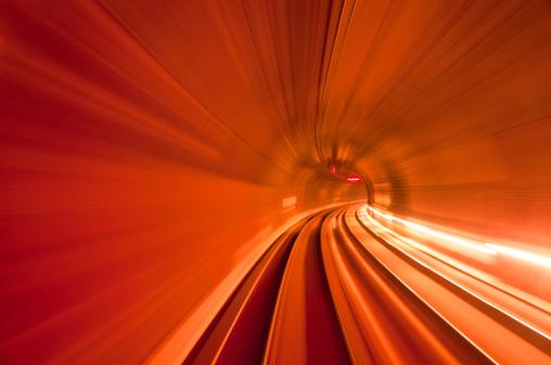 Tunnel「red speed tunnel」:スマホ壁紙(5)