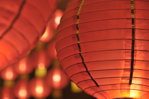Chinese Lantern「Chinese paper lanterns are glowing」:スマホ壁紙(7)