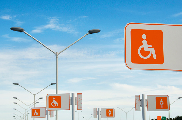 Accessibility「Uruguay. Parking spaces for pregnant women and disabled people at the new Carrasco International airport in Montevideo」:写真・画像(18)[壁紙.com]