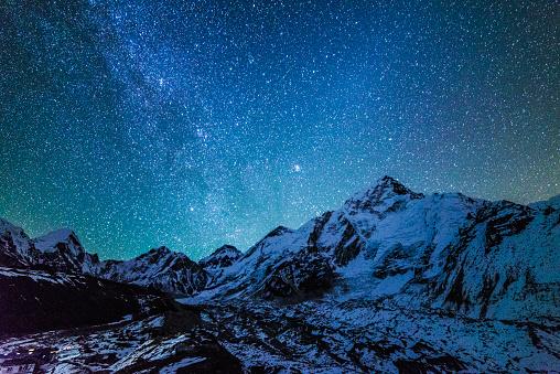 Himalayas「Starry Night, Mt. Everest Base Camp, Khumbu Valley, Nepal」:スマホ壁紙(3)
