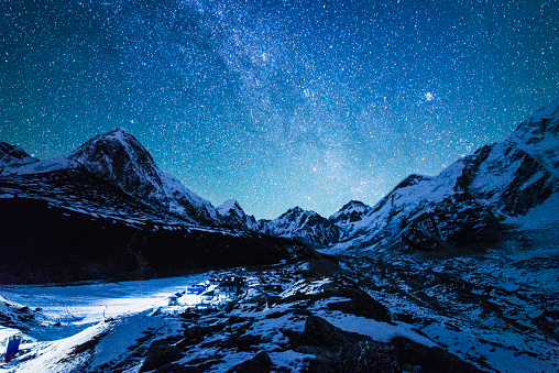 Himalayas「Starry Night, Mt. Everest Base Camp, Khumbu Valley, Nepal」:スマホ壁紙(0)