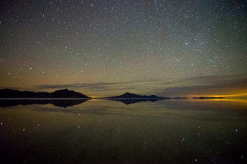 星空「Starry Night, Bonneville Salt Flats」:スマホ壁紙(4)