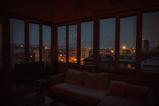 Skyscraper「Nice view of city at night」:スマホ壁紙(6)