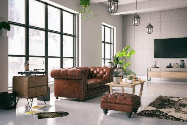 Loft Interior:スマホ壁紙(壁紙.com)
