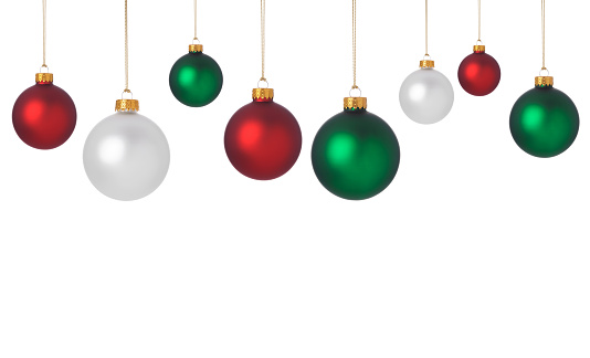 Christmas Decoration「Dangling red, green, and white Christmas ornaments」:スマホ壁紙(18)