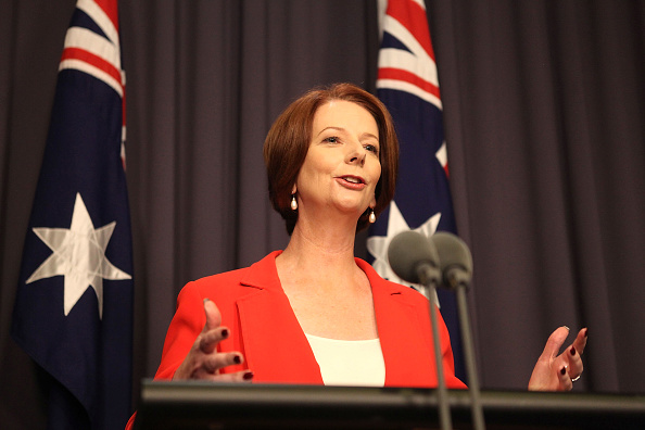 Julia Gillard「Gillard Defeats Rudd In Leadership Battle」:写真・画像(0)[壁紙.com]
