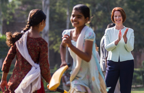 Delhi「Prime Minister Julia Gillard Visits India - Day 2」:写真・画像(8)[壁紙.com]