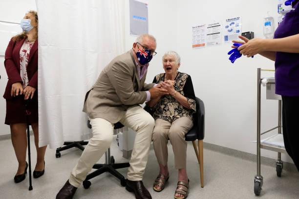 Australian Prime Minister Scott Morrison Receives Pfizer Covid-19 Vaccination:ニュース(壁紙.com)