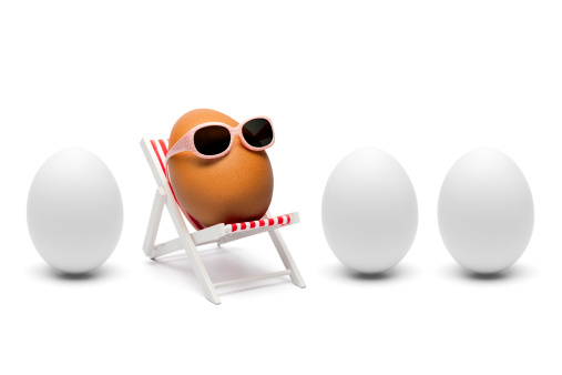 Easter「The secret about brown eggs - Humor Sunglasses lounger」:スマホ壁紙(18)
