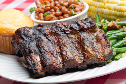 Char-Grilled「Baby Back Pork Ribs, Baked Beans, Corn on the Cob」:スマホ壁紙(8)