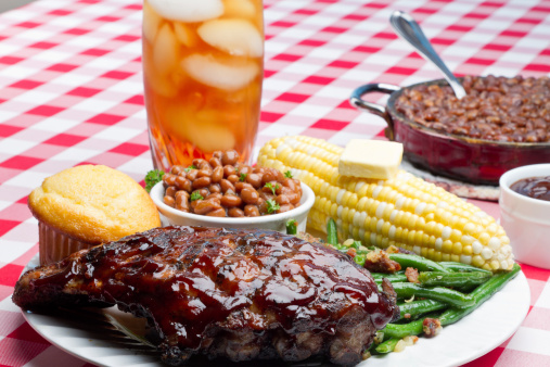 Char-Grilled「Baby Back Pork Ribs, Baked Beans, Corn on the Cob」:スマホ壁紙(5)