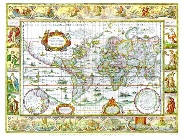 17th Century「World map from Blaeu 's World Atlas」:写真・画像(12)[壁紙.com]