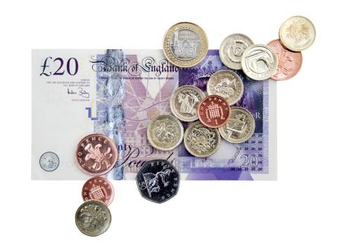 Banking「British Cash Clipping Path」:スマホ壁紙(17)