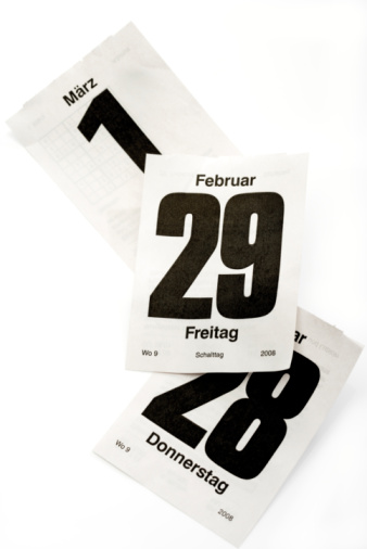 February「Calendar sheets with leap-day february 29th」:スマホ壁紙(10)