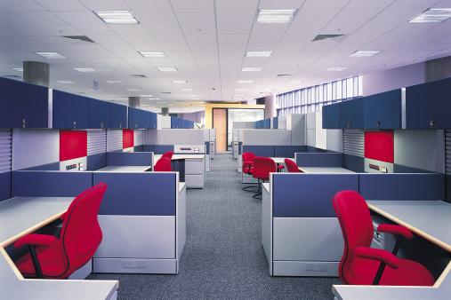 Open Plan「Vacant cubicles in office」:スマホ壁紙(6)