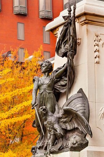 Major General「General Rochambeau Statue in Lafayette Park, Washington DC, USA」:スマホ壁紙(5)